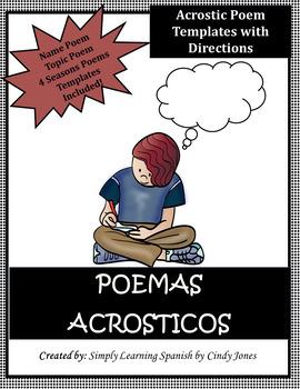 """SPANISH """"ACROSTIC NAME POEM"""""""