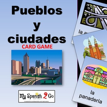 SPANISH CITY VOCABULARY (PUEBLOS Y CIUDADES):  Vocab Card