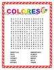 SPANISH COLORS- Review Colors & Earth Day Coloring Activity