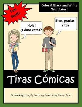 "SPANISH ""Comic Strips"" *Color & Black and White Templates"