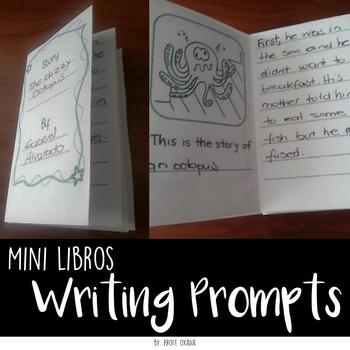 SPANISH Mini libros de escritura creativa Creative writing