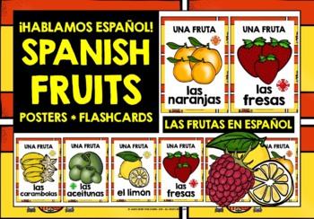SPANISH FRUITS - CLASSROOM DECOR - 22 DISPLAY POSTERS / FL