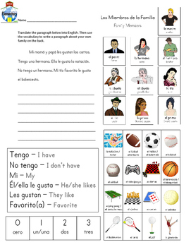 SPANISH: Family and Activities