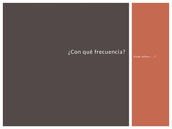 SPANISH LESSON - HOW OFTEN - FREQUENCIA - INTERACTICE POWERPOINT