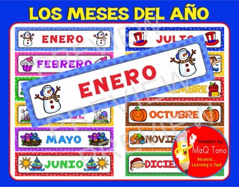 SPANISH MONTHS OF THE YEAR ... Los Meses Del Año