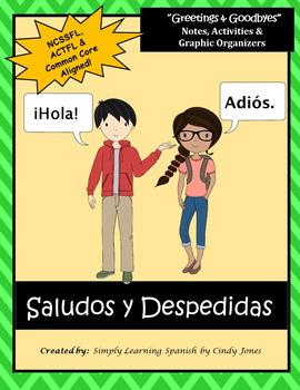 "SPANISH  ""Greetings & Goodbye's""  *NO PREP BUNDLE"