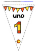 SPANISH NUMBERS 0-31 BACK TO SCHOOL BANNERS/BUNTING