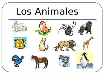 SPANISH - PPT Flashcards - Animals