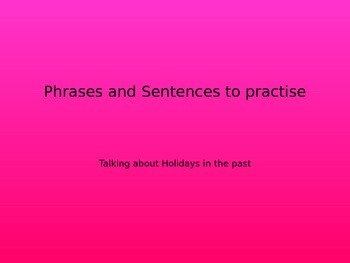 SPANISH - PPT - Holidays in the past