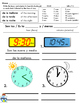 SPANISH: Practice Telling Time - Includes Subtracting Minutes