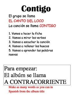 SPANISH - SONG - Contigo