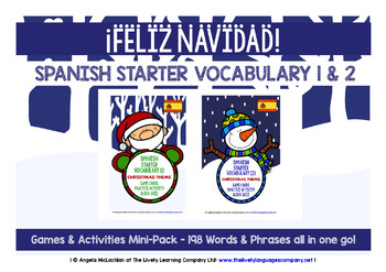 SPANISH STARTER VOCABULARY (1&2) - CHRISTMAS EDITION - GAM