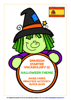 SPANISH STARTER VOCABULARY (1) - HALLOWEEN EDITION - GAMES