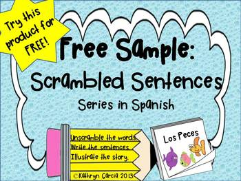 Spanish Scrambled Sentences for Dual Language/Bilingual: F