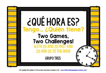 SPANISH TELLING TIME (3) - I HAVE, WHO HAS? 2 GAMES, 2 CHA