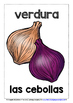 SPANISH VEGETABLES - CLASSROOM DECOR - 25 DISPLAY POSTERS