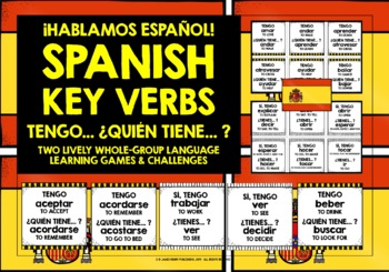 SPANISH VERBS (1) - I HAVE, WHO HAS? 2 GAMES & CHALLENGES!