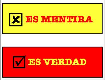 SPANISH VERDAD/MENTIRA CARDS