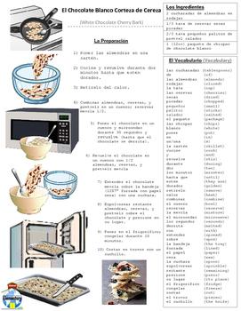 SPANISH: White Chocolate Cherry Bark Recipe