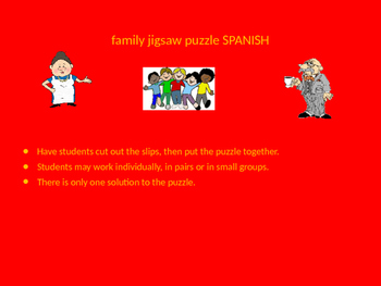 SPANISH family jigsaw puzzle