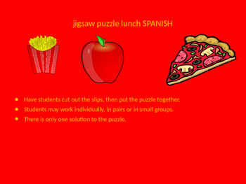 SPANISH lunch jigsaw puzzle