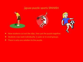 SPANISH sports jigsaw puzzle