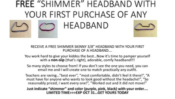 SPARLKING HEADBANDS FOR FREE!!!