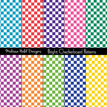 SPECIAL OFFER! Bright Checkerboard Background Patterns