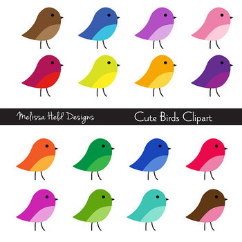 SPECIAL OFFER! Clipart: Cute Birds Clip Art