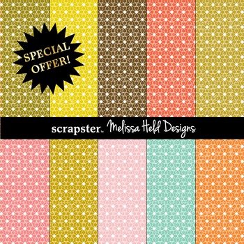 SPECIAL OFFER! Geometric Flower Background Patterns