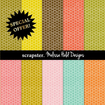 SPECIAL OFFER! Honeycomb Lace Background Patterns