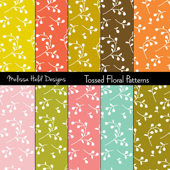 SPECIAL OFFER! Mod Flower Background Patterns