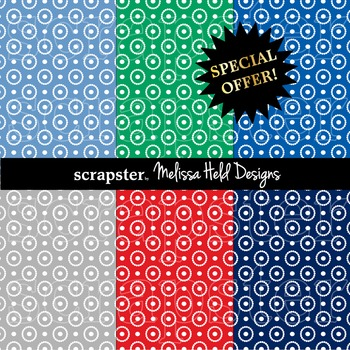 SPECIAL OFFER! Nautical circle dot background patterns