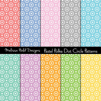 SPECIAL OFFER! Pastel circle dot background patterns