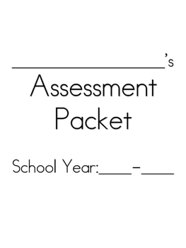 SPED Assessment Packet