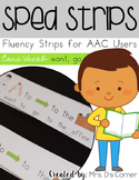 SPED Strips Set 1 {Fluency Strips for SPED} Core Vocabular
