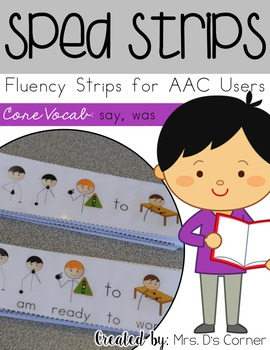 SPED Strips Set 5 {Fluency Strips for SPED} Core Vocabular