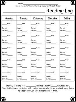 SPED weekly homework