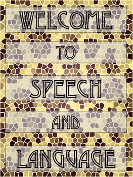 SPEECH & LANGUAGE - BANNER and POSTER