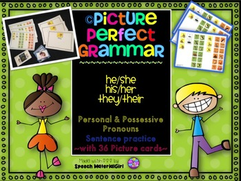 SPEECH THERAPY PICTURE PERFECT GRAMMAR his/her/their posse