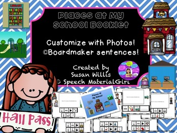 SPEECH THERAPY - PLACES AT MY SCHOOL visual sentence strip