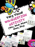 SPEECH THERAPY Wh-Question w/ visual answers autism Who Wh