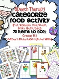 SPEECH THERAPY food group categories sort fruit vegetables