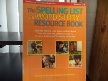 SPELLING LIST AND WORD STUDY RESOURCE BOOK