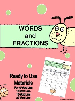 SPELLING: WORDS AND FRACTIONS