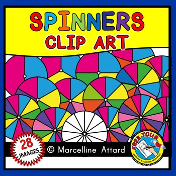 CIRCLE SPINNERS CLIPART: COLORFUL SPINNERS CLIPART
