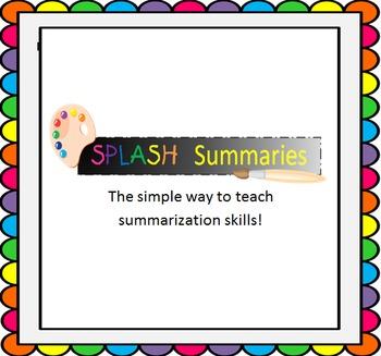 SPLASH Summaries (Teaching Summary Skills)