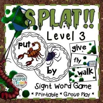 SPLAT! First Grade Dolch Sight Words Game