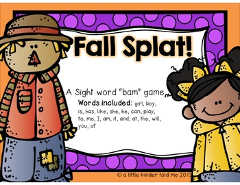 SPLAT! a fall themed bam game