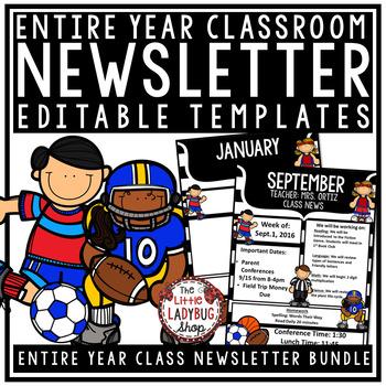 Editable Newsletter Templates - Sports Theme